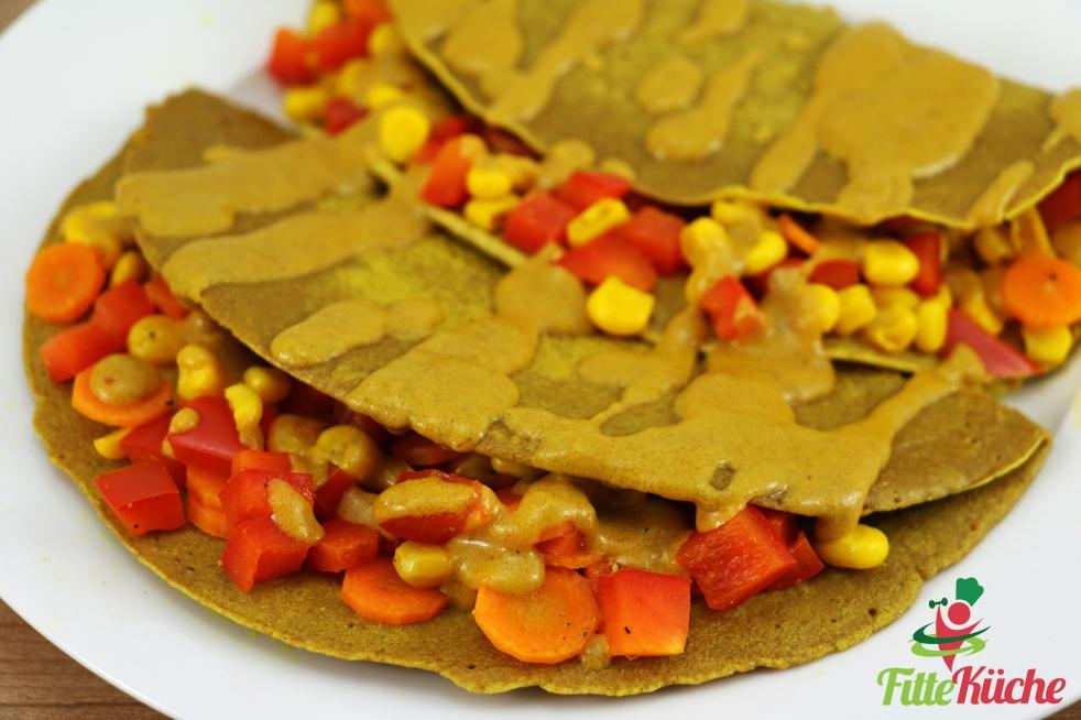 Curry-Gemüse Crêpes